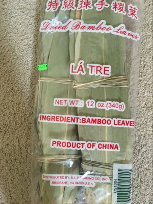 6 packs of dried bamboo leaves
